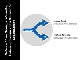 Balance Sheet Strategic Marketing Entrepreneurship Tools Successful Organizations