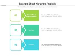 Balance Sheet Variance Analysis Ppt Powerpoint Presentationmodel Brochure Cpb