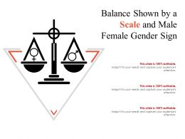 Balance Shown By A Scale And Male Female Gender Sign