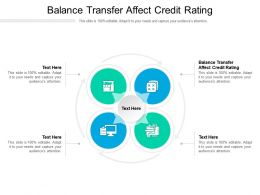 Balance Transfer Affect Credit Rating Ppt Powerpoint Presentation Infographic Template Rules Cpb