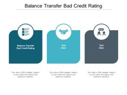 Balance Transfer Bad Credit Rating Ppt Powerpoint Presentation Icon Backgrounds Cpb