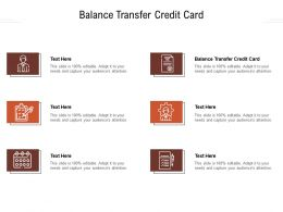 Balance Transfer Credit Card Ppt Powerpoint Presentation Pictures Inspiration Cpb