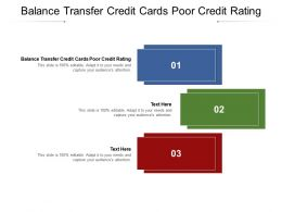 Balance Transfer Credit Cards Poor Credit Rating Ppt Powerpoint Presentation File Cpb