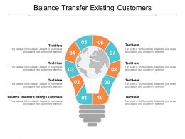 Balance Transfer Existing Customers Ppt Powerpoint Presentation Gallery Images Cpb