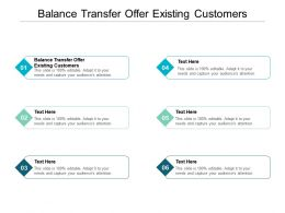 Balance Transfer Offer Existing Customers Ppt Powerpoint Infographics Portfolio Cpb