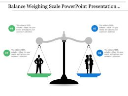 Balance Weighing Scale Powerpoint Presentation Templates