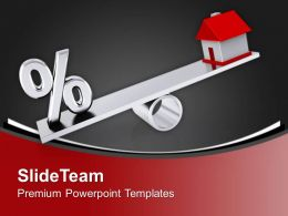 Balance With Real Estate And Percentage Powerpoint Templates Ppt Themes And Graphics 0313