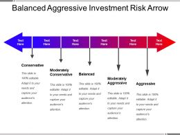 Balanced Aggressive Investment Risk Arrow