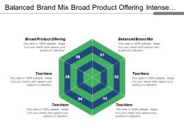 Balanced Brand Mix Broad Product Offering Intense Competition