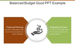 Balanced Budget Good Ppt Example