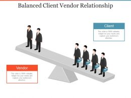 Balanced Client Vendor Relationship Powerpoint Slide Images