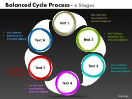 balanced cycle process 6 stages powerpoint templates graphics slides 0712