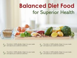 Balanced Diet Food For Superior Health