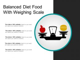 Balanced Diet Food With Weighing Scale
