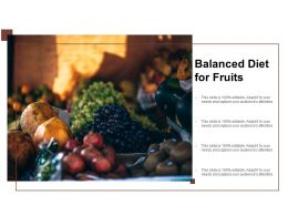 Balanced Diet For Fruits