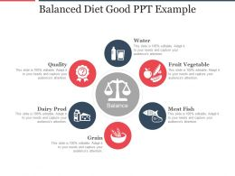 Balanced Diet Good Ppt Example