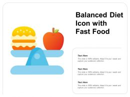 Balanced Diet Icon With Fast Food