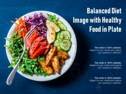 Balanced Diet Image With Healthy Food In Plate