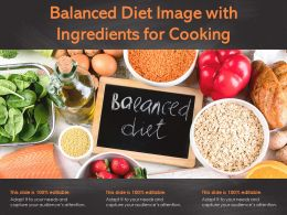 Balanced Diet Image With Ingredients For Cooking
