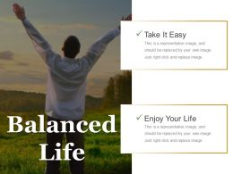 Balanced Life Good Ppt Example