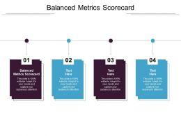 Balanced Metrics Scorecard Ppt Powerpoint Presentation Model Summary Cpb