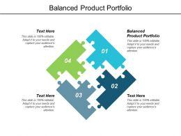 Balanced Product Portfolio Ppt Powerpoint Presentation Layouts Cpb