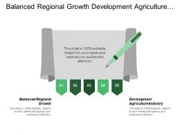 Balanced Regional Growth Development Agriculture Industry Desirable Expenditure