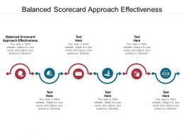 Balanced Scorecard Approach Effectiveness Ppt Powerpoint Presentation Show Templates Cpb
