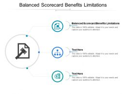 Balanced Scorecard Benefits Limitations Ppt Powerpoint Presentation Professional Rules Cpb