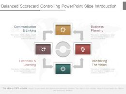Balanced Scorecard Controlling Powerpoint Slide Introduction