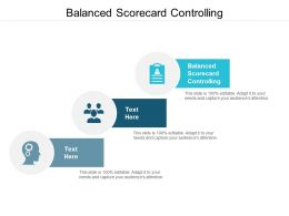 Balanced Scorecard Controlling Ppt Powerpoint Presentation Infographic Template Cpb