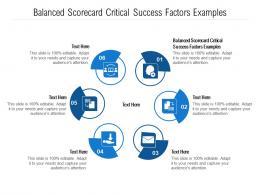 Balanced Scorecard Critical Success Factors Examples Ppt Powerpoint Presentation Show Templates Cpb