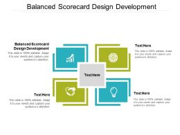 Balanced Scorecard Design Development Ppt Powerpoint Presentation Professional Design Cpb