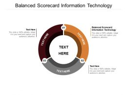 Balanced Scorecard Information Technology Ppt Powerpoint Presentation Portfolio Elements Cpb