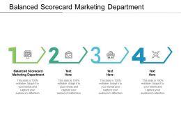 Balanced Scorecard Marketing Department Ppt Powerpoint Presentation File Master Slide Cpb