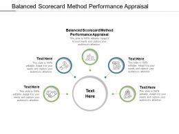 Balanced Scorecard Method Performance Appraisal Powerpoint Presentation Infographics Cpb
