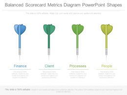 Balanced Scorecard Metrics Diagram Powerpoint Shapes