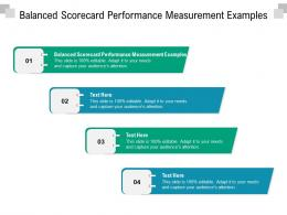 Balanced Scorecard Performance Measurement Examples Ppt Summary Cpb