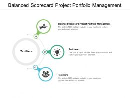 Balanced Scorecard Project Portfolio Management Ppt Powerpoint Slide Cpb