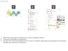 66570345 Style Variety 1 Gears 5 Piece Powerpoint Presentation Diagram Infographic Slide