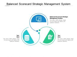 Balanced Scorecard Strategic Management System Ppt Powerpoint Presentation Introduction Cpb