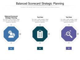 Balanced Scorecard Strategic Planning Ppt Powerpoint Presentation Outline Designs Cpb