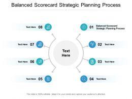 Balanced Scorecard Strategic Planning Process Ppt Powerpoint Presentation Portfolio Cpb