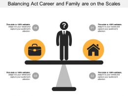 Balancing Act Career And Family Are On The Scales