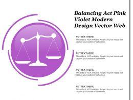 Balancing Act Pink Violet Modern Design Vector Web
