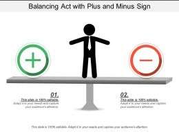 Balancing Act With Plus And Minus Sign