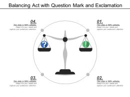 Balancing Act With Question Mark And Exclamation