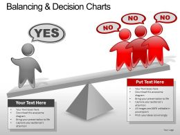 Balancing Decision Charts Powerpoint Presentation Slides