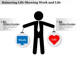 Balancing Life Showing Work And Life