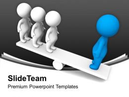 Balancing People On Seasaw Powerpoint Templates Ppt Themes And Graphics 0113